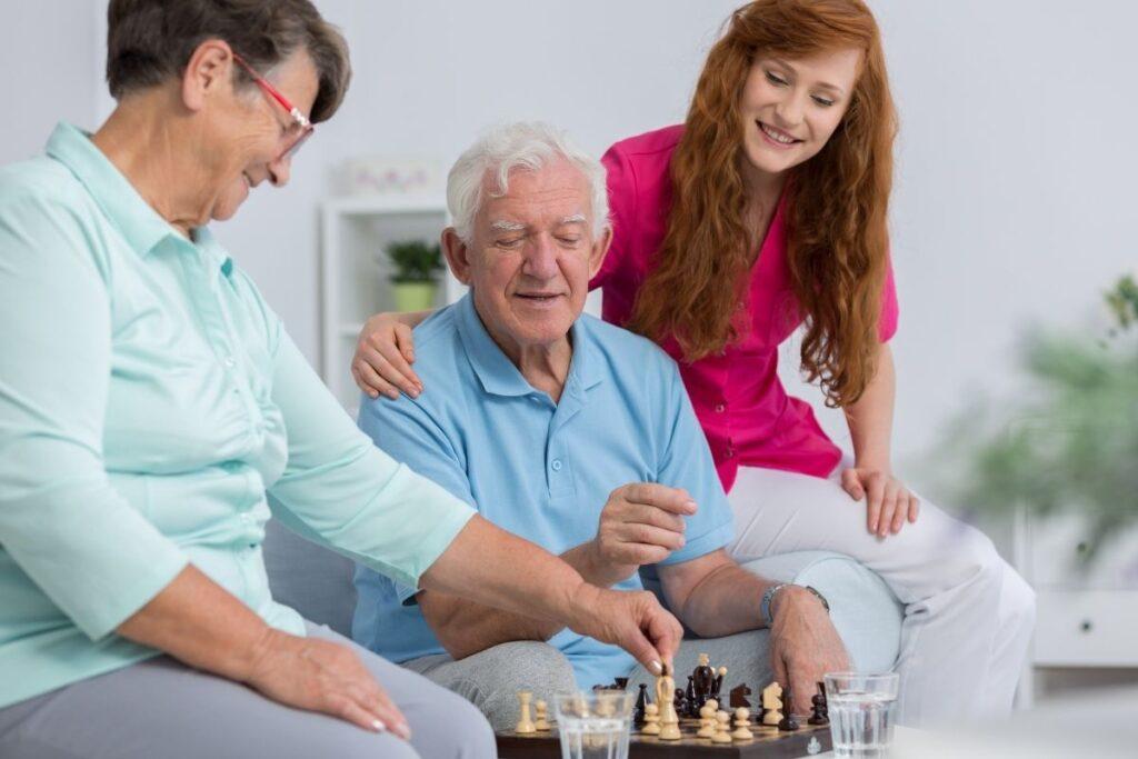 opiekunka z seniorami
