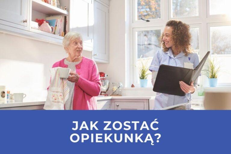 seniorka rozmawia z opiekunką